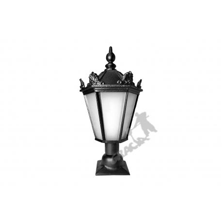 Lampa F03 na słupek z kloszem żeliwnym spawanym