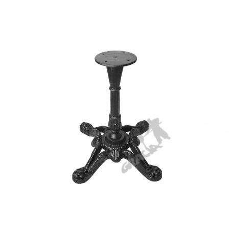Noga stołu D10 - niska z talerzem
