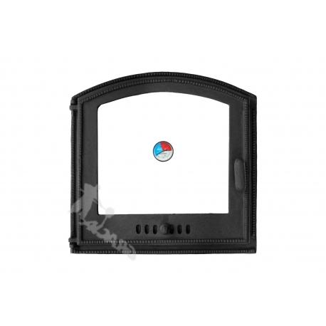DRZWI C03 LEWE - 45x45 CM + TERMOMETR 0-250°C