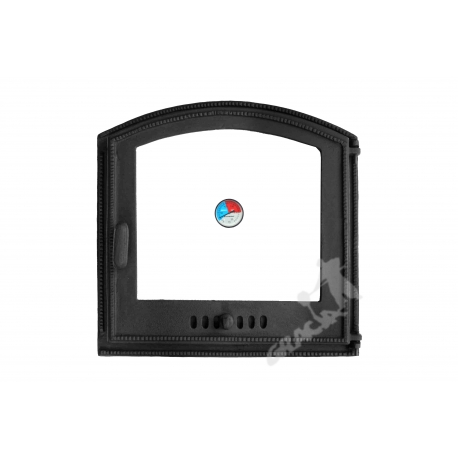 DRZWI C03 PRAWE - 45x45 CM + TERMOMETR 0-250°C