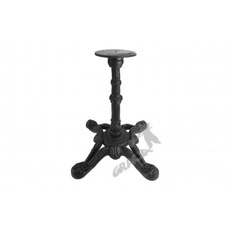 Noga stołu D04 - niska z talerzem