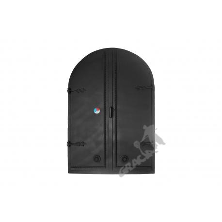 DRZWI A8 - 115X78 CM + TERMOMETR 0-250°C