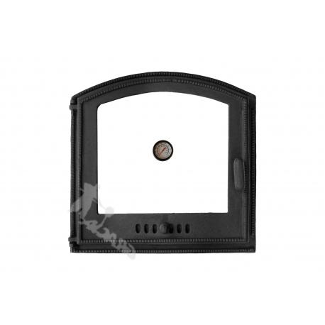 DRZWI C03 LEWE - 45x45 CM + TERMOMETR 0-500°C