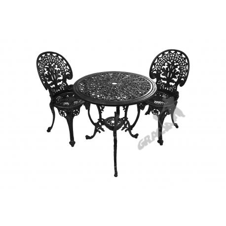 Zestaw nr 01 - stół ø 66 cm + 2 krzesła lekkie