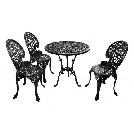 Zestaw nr 08 - stół ø 75 cm + 3 krzesła średnie
