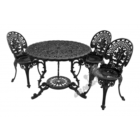Zestaw nr 17 - stół ø 90 cm + 3 krzesła lekkie
