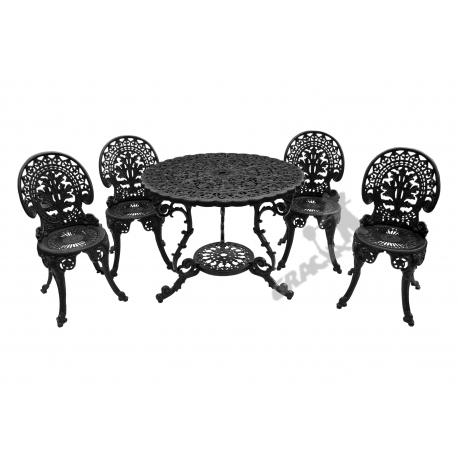 Zestaw nr 18 - stół ø 90 cm + 4 krzesła lekkie