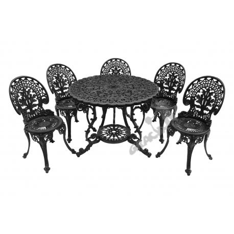 Zestaw nr 19 - stół ø 90 cm + 5 krzeseł lekkich