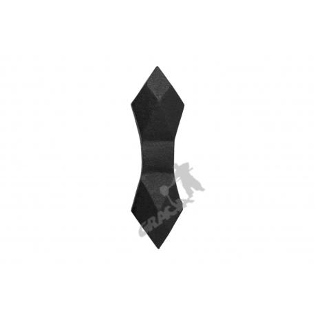Kratka ogrodzeniowa nr 16 żeliwna - krawat szeroki