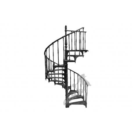 Schody kręcone Fi 1,85 m - CZARNE