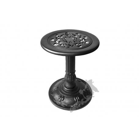 Mini stolik F01 - niski z blatem koronkowym