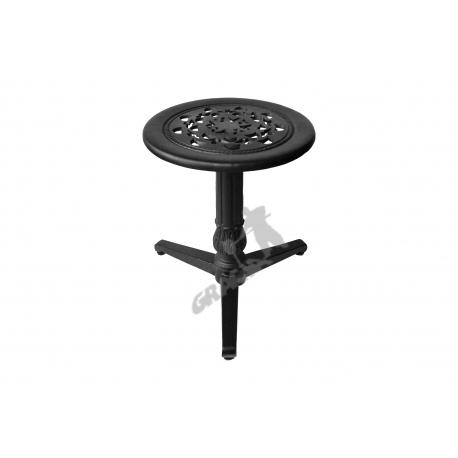 Mini stolik N01 - niski z blatem koronkowym