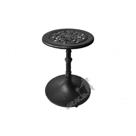 Mini stolik E07 - niski z blatem koronkowym
