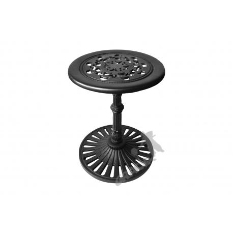 Mini stolik K07 - niski z blatem koronkowym