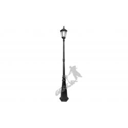 Lampa E04 z kloszem żeliwnym stylowym 1-ośw.
