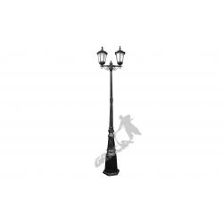 Lampa E05 z kloszem żeliwnym stylowym 2-ośw.
