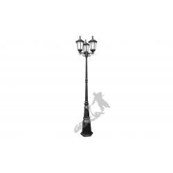 Lampa E06 z kloszem żeliwnym stylowym 3-ośw.