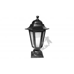 Lampa F01 na słupek z kloszem aluminiowym