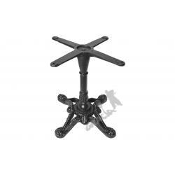 Noga stołu D06 - kawowy z krzyżakiem