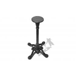Noga stołu D07 - szczupły słupek z talerzem