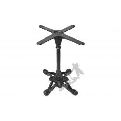Noga stołu D08 - szczupły słupek z krzyżakiem