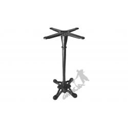 Noga stołu D10 - szczupły wysoki słupek z krzyżakiem