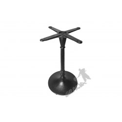 Noga stołu E08 - szczupły słupek z krzyżakiem
