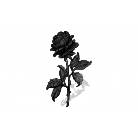 Kratka ogrodzeniowa nr 14 żeliwna - róża