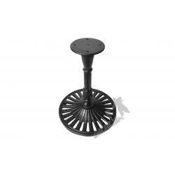 Noga stołu K05 - kawowy z talerzem