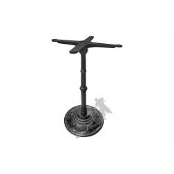 Noga stołu F12 -  słupek z przewiązką z krzyżakiem
