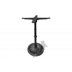 Noga stołu H12 -  słupek z przewiązką z krzyżakiem