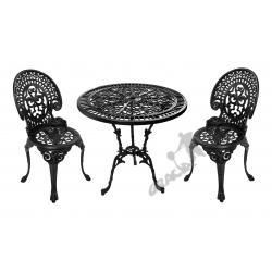 Zestaw nr 06 - stół ø 75 cm + 2 krzesła średnie