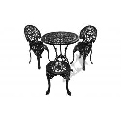 Zestaw nr 07 - stół ø 75 cm + 2 krzesła średnie + 1 taboret średni