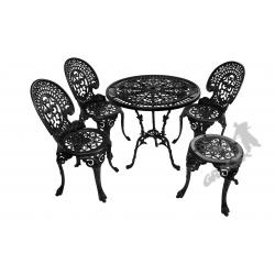 Zestaw nr 09 - stół ø 75 cm + 3 krzesła średnie + 1 taboret średni