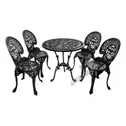 Zestaw nr 10 - stół ø 75 cm + 4 krzesła średnie