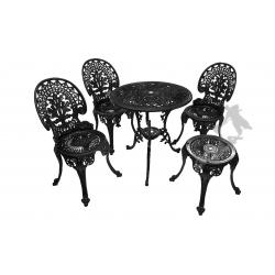 Zestaw nr 04 - stół ø 66 cm + 3 krzesła lekkie + 1 taboret lekki