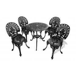 Zestaw nr 05 - stół ø 66 cm + 4 krzesła lekkie