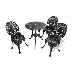 Zestaw nr 03 - stół ø 66 cm + 3 krzesła lekkie