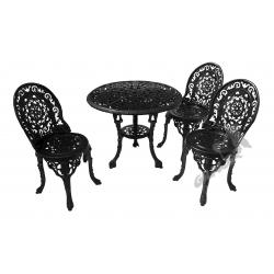 Zestaw nr 13 - stół ø 80 cm + 2 fotele koronkowe