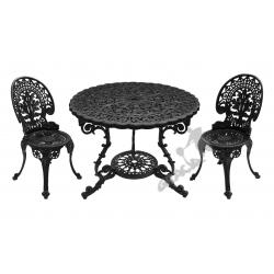 Zestaw nr 16 - stół ø 90 cm + 2 krzesła lekkie